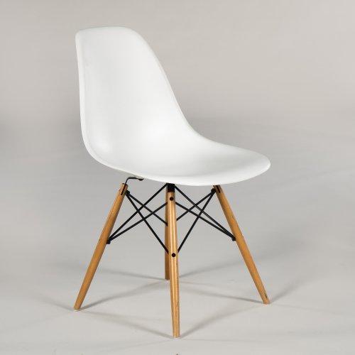 Charles og Ray Eames - Plastic Chair DSW - kantinestol - hvid