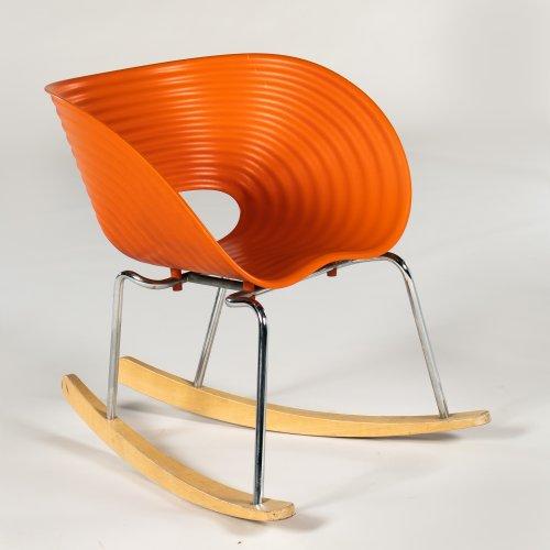 Ron Arad - Gyngestol - model Tom Vac - orange plast - bøg