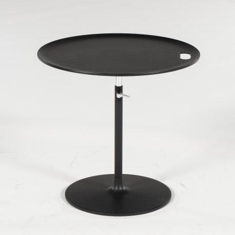 Jasper Morrison - sidebord - Rise Table - sort metal - højdejusterbar
