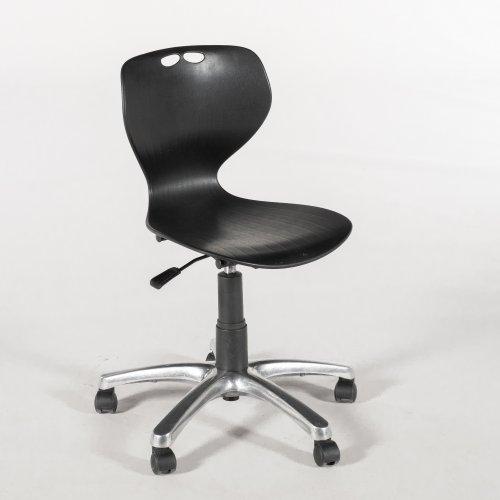 Merryfair kontorstol - sort - krom fod