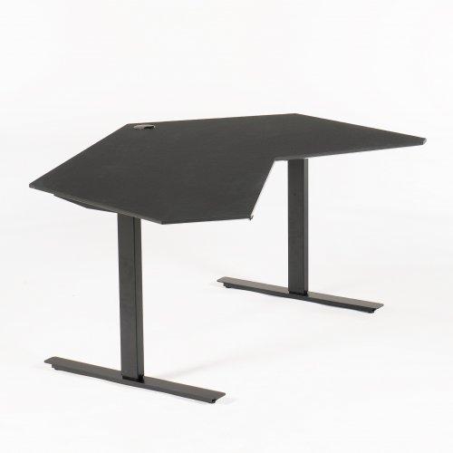 Demo Air hæve-/ sænkebord - sort linoleum