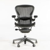 Herman Miller Aeron Chair - Graphite/Black - Model B - Bagud- + forudtilt
