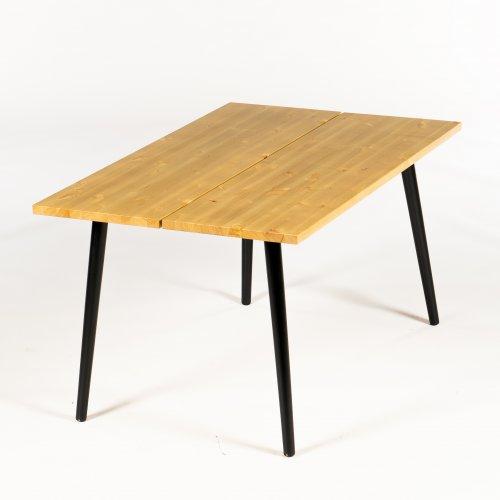 Cobalt plankebord/ konferencebord - 140x90 cm. - nød - Angle ben - sort