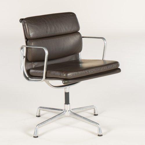 Charles Eames - EA 208 konferencestol - brunt læder