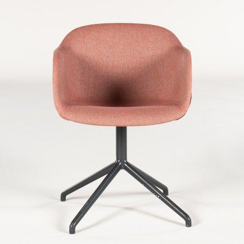 Muuto Fiber armstol/ konferencestol - rødligt stof - gråt stel
