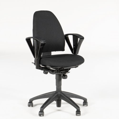 Kinnarps Freefloat 6000 kontorstol - med armlæn - sort polstring