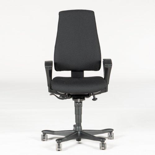 Kinnarp kontorstol - sort - højrygget