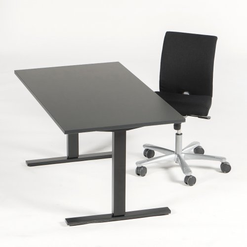 Arbejdsstation m. HÅG kontorstol og Thor hæve-/sænkebord