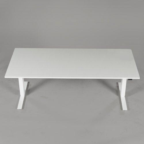 Thor hæve-/sænkebord - hvid decor - hvidt stel - 180x80 cm
