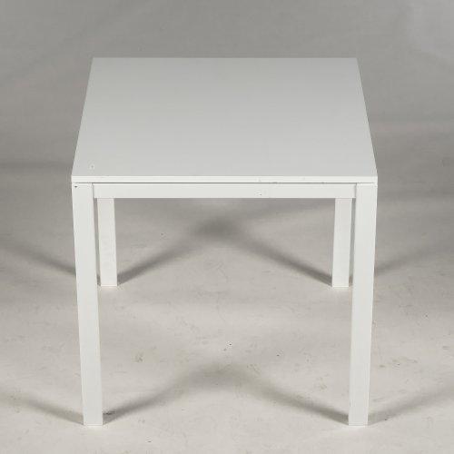 Brugt IKEA bord - hvidt med hvidt stel - 75x75 cm