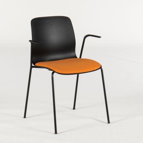 Demo Gate Reflect 5000 kantinestol - sort skal - sorte ben - Select sæde - ridser på stel