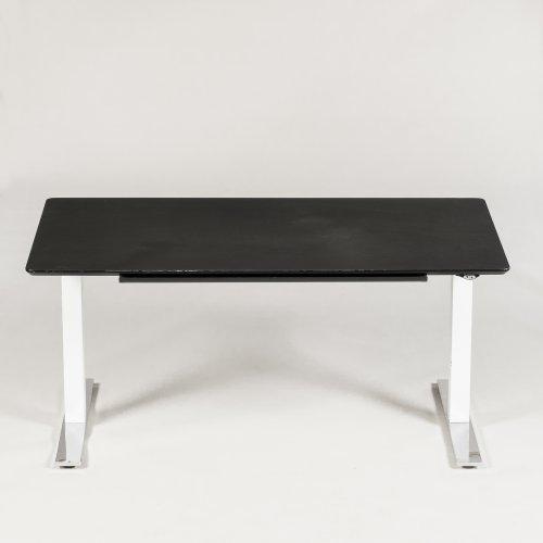 Gubi hæve/sænkebord - 160x80 cm - sort bordplade - gubi stel