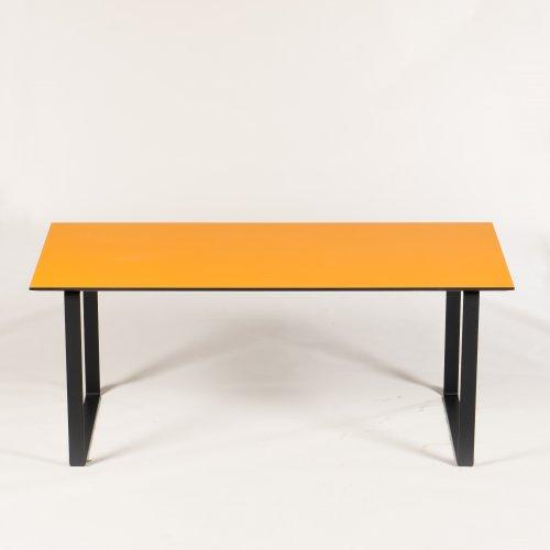 Xenon - konferencebord - orange - 180x90 cm. - Link ben