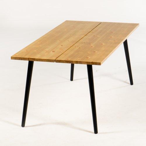 Cobalt plankebord/ konferencebord - 180x90 cm. - nød - Angle ben - sort