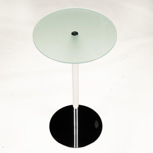 Demo højbord - model Circle - H. 110 cm. - krom - matteret glas