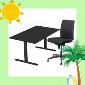 Arbejdsstation m. Odin hæve-/sænkebord + Magna Manager kontorstol - Juli-kalender 19/7