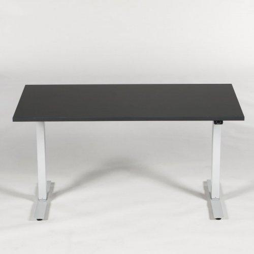 Demo Thor hæve-/sænkebord - antracitgrå decor - sort stel - 140x80 cm