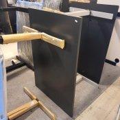 Thor hæve-/sænkebord - rektangulær bordplade - antracit decor - gråt stel - 120x80 cm