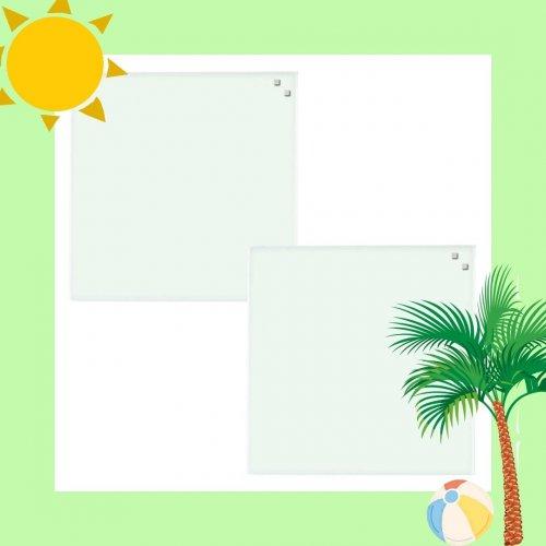 2x NAGA magnetisk glastavle - Hvid - 45x45 cm - Juli-kalender 30/7