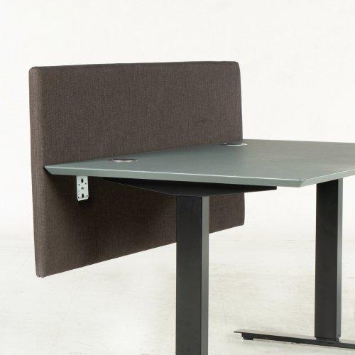 Brugt skillevæg - brun/grå - bordhængt - 140x60 cm