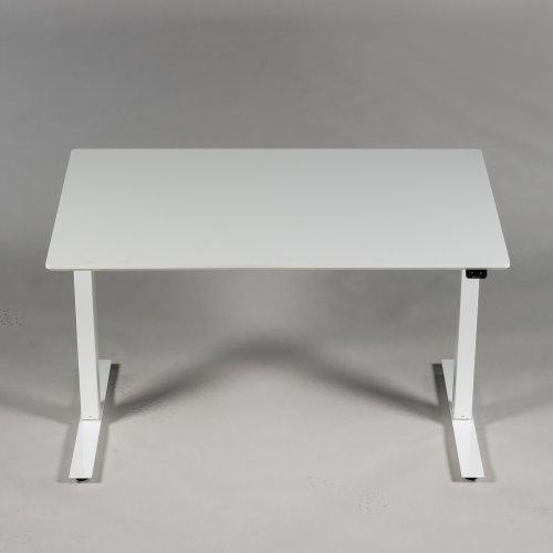 Demo Thor hæve-/sænkebord - Hvid laminat - hvidt stel - 120x80 cm