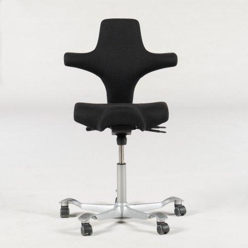 Håg capisco kontorstol - mørkegrå - grå fod