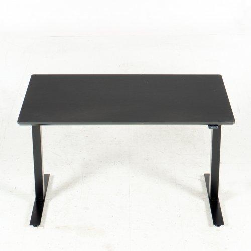 Hæve-/sænkebord - 120x80 cm - sort linoleum - sort stel - Thor