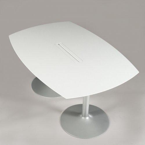 Hvidt konferencebord - 160x110 cm