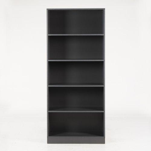 Brugt Choice reol - 5rh - antracit decor - m. sokkel - 186x80x40 cm
