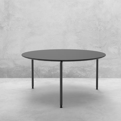 Quadro rundt møde-/cafébord - linoleum