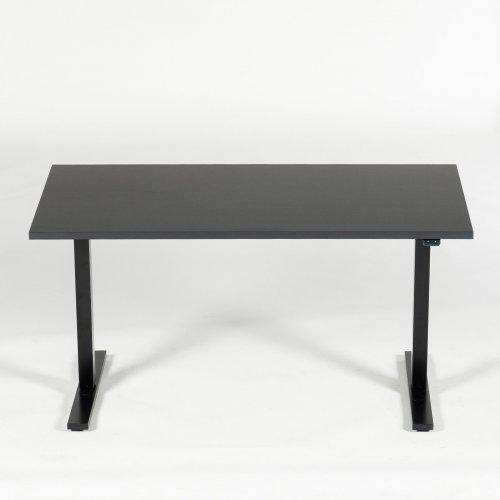 Balder hæve-/sænkebord - antracit decor - sort stel