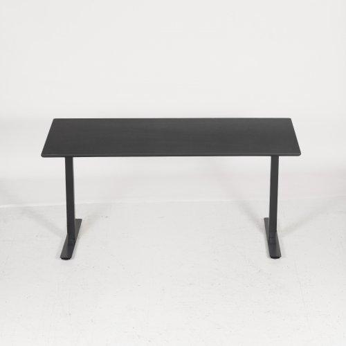 Convert hæve-/sænkebord - sort linoleum m. klar kant - Thor stel