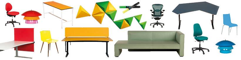 farverige møbler