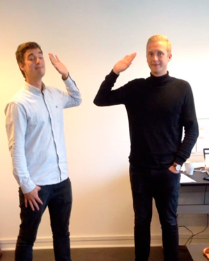 Claus og Alexander er high 5