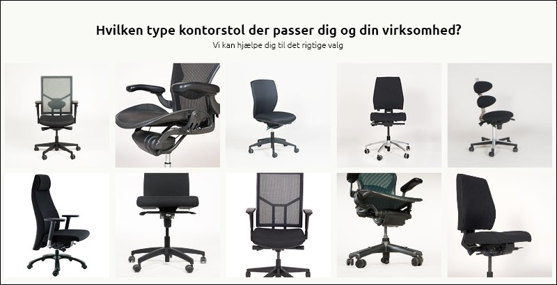 Vælg den rigtige kontorstol